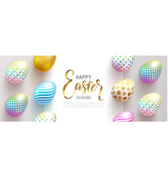happy easter bannerfull of love beautiful vector image