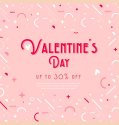 happy valentines day collection greeting vector image