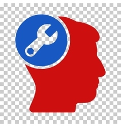 Head Wrench Repair Icon vector