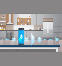 Home intelligent voice activated assistant vector