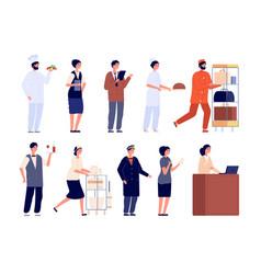 hotel team worker staff hospitality job employee vector image