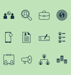 human icons set collection of bullhorn find vector image