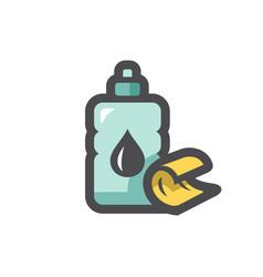 Ignition fluid bottle icon cartoon vector