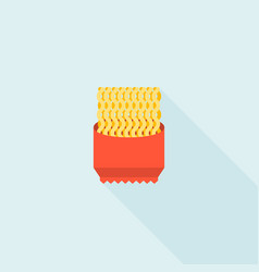 Instant noodle icon flat design vector