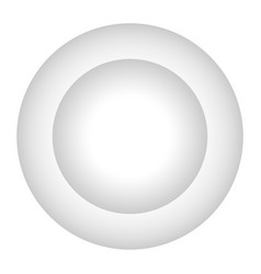 isolated empty plate vector image