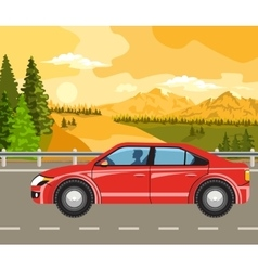 landscape and travel vector image
