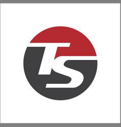 Letter ts initials circle logo template r vector