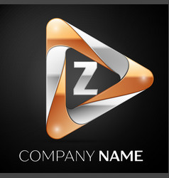 Letter z logo symbol in the colorful triangle on vector
