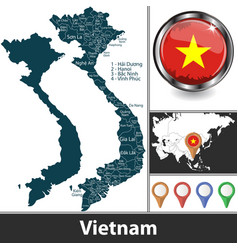 Map vietnam vector
