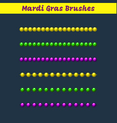 mardi gras beads pattern brushes add-on vector image