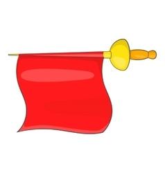 Matador red fabric icon cartoon style vector