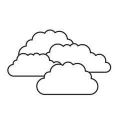 monochrome silhouette with set of clouds vector image