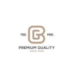 Monogram bg gb logo design inspiration vector