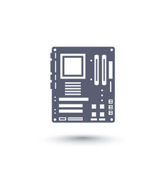 Motherboard icon over white vector