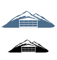 mountain hotel logo vector image