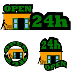 Open 24 hours vector