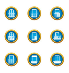 Pane icons set flat style vector