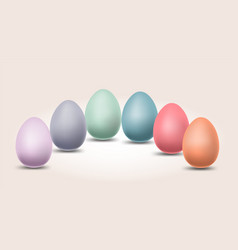 pastel color eggs for happy easter day with vector image