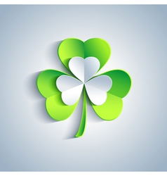 Patricks day card with leaf clover greeting card vector
