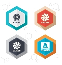 Premium level award icons A-class ventilation vector image