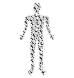 Prenatal human figure vector
