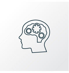 Psychology icon line symbol premium quality vector