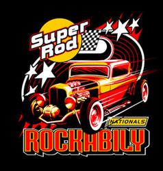 Rockabily thum vector