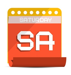 Saturday Paper Calendar vector