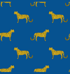 Seamless pattern with leopards jaguar vector