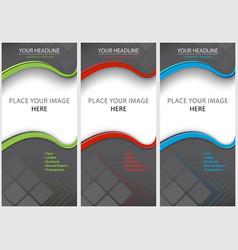 Set blank brochure template vector
