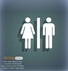 silhouette of a man and a woman icon symbol on the vector image