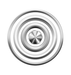 Silver metal rings buttons rivets or frames vector