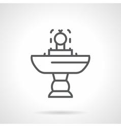 Small fountain black line icon vector image