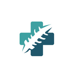 spine care spinal chiropractic massage logo icon vector image