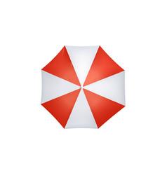 sun or rain protective umbrella 3d realistic vector image