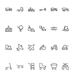 Transport Hand Drawn Doodle Icons 3 vector image