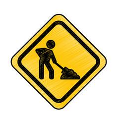 Under construction traffic signal icon vector