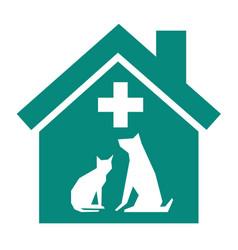 Veterinary sign symbol vector