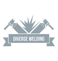 Welding tool logo simple gray style vector