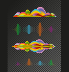 abstract colored sound wave design elements vector image vector image