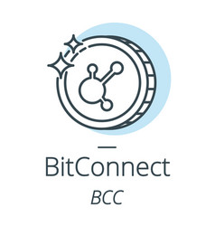 bitconnect cryptocurrency coin line icon of vector image