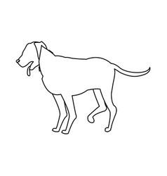 cartoon dog walking pet animal outline vector image