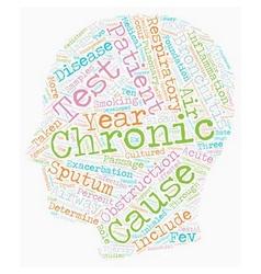chronic bronchitis text background wordcloud vector image vector image