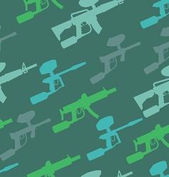 paintball guns pattern vector image