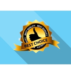 Best Choice Label Icon vector image vector image
