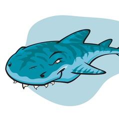 Cartoon Tiger shark vector image vector image