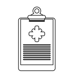 clipboard medical report clinic thin line vector image vector image