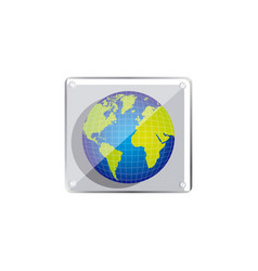 earth planet emblem icon vector image vector image