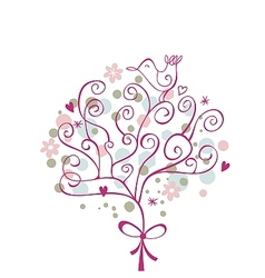 Festive Tree vector image vector image