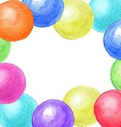Frame of watercolor balls vector image vector image